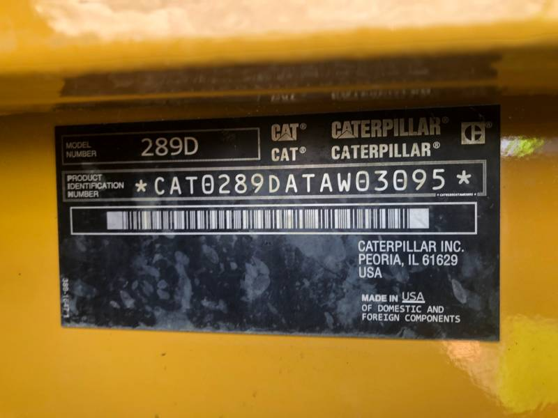 CATERPILLAR MULTI TERRAIN LOADERS 289 D equipment  photo 20