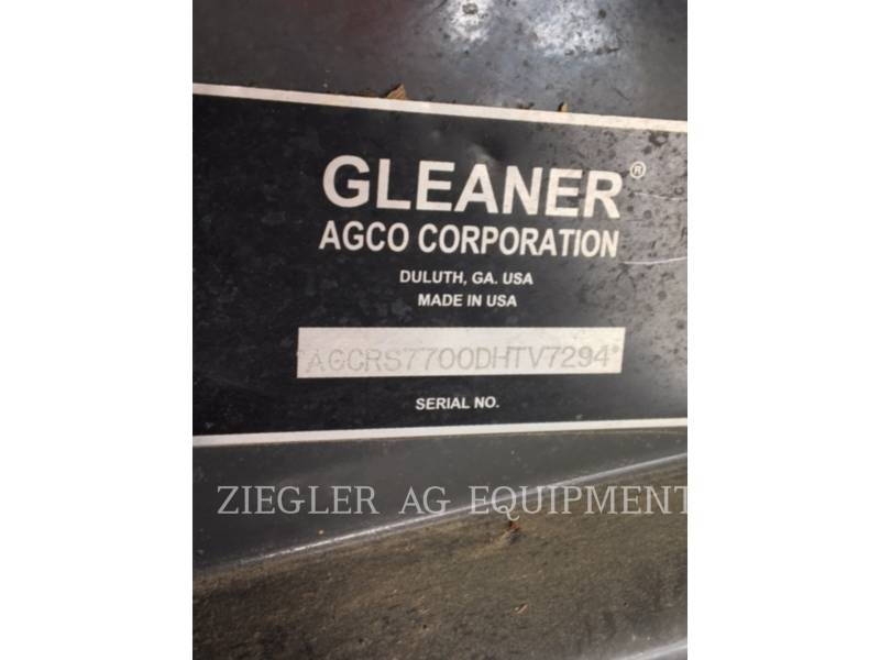 GLEANER COMBINES S77 equipment  photo 4