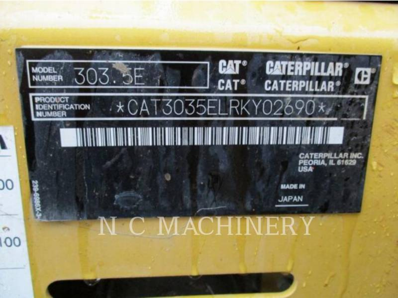 CATERPILLAR TRACK EXCAVATORS 303.5ECRCB equipment  photo 6