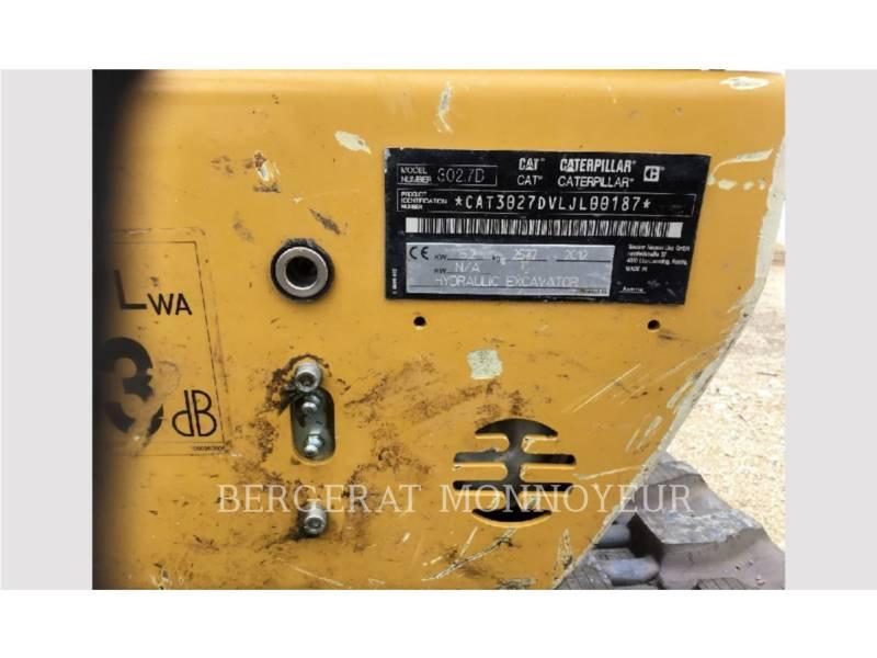 CATERPILLAR TRACK EXCAVATORS 302.7D CR equipment  photo 8