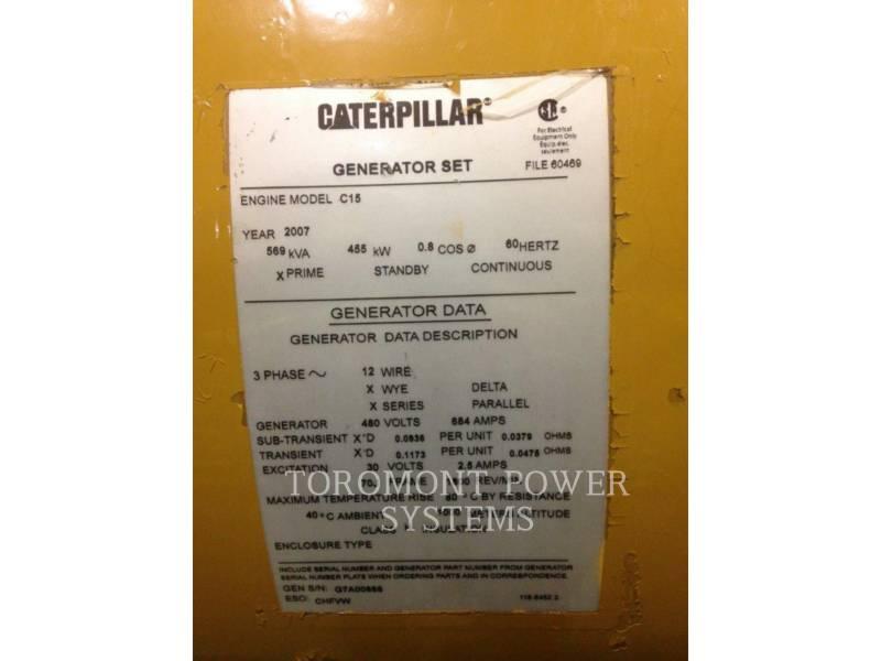 CATERPILLAR COMPONENTES DE SISTEMAS LC7 455KW PRIME 480 VOLTS equipment  photo 2