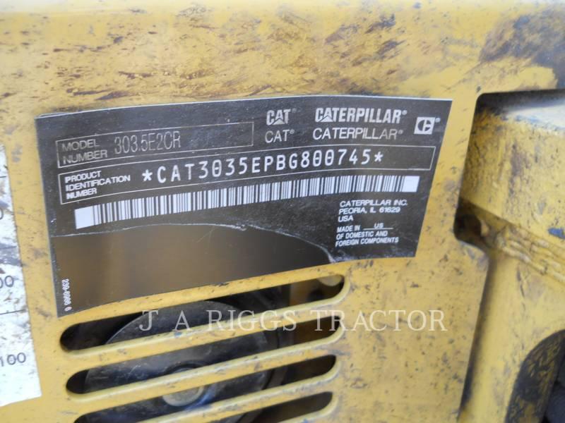 CATERPILLAR TRACK EXCAVATORS 303.5E2CR equipment  photo 24