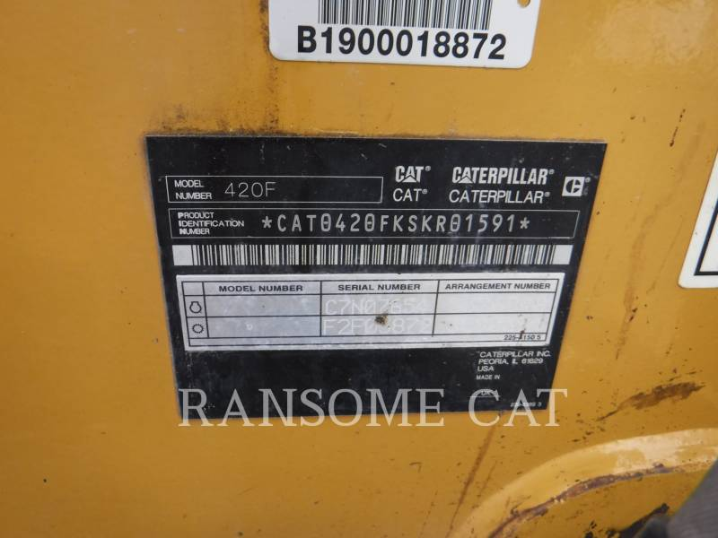 CATERPILLAR RETROESCAVADEIRAS 420F equipment  photo 5