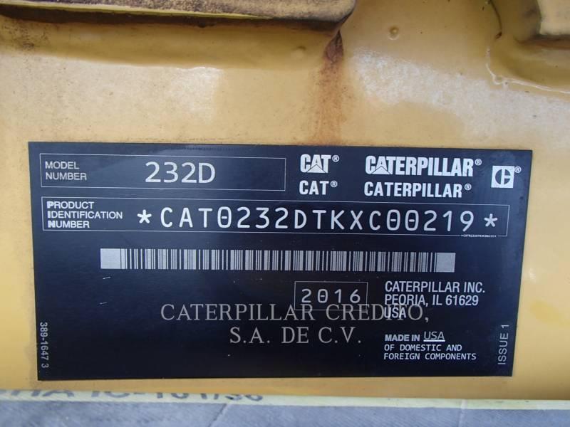 CATERPILLAR MINICARGADORAS 232DLRC equipment  photo 21