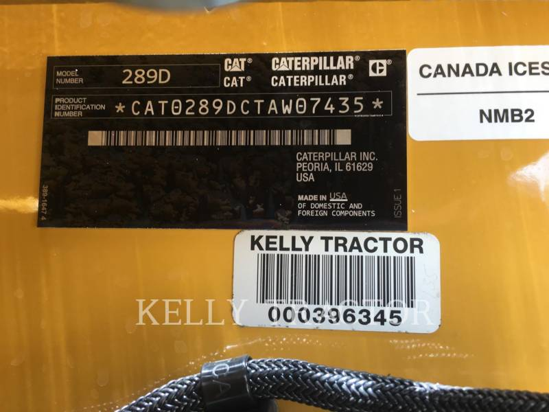 CATERPILLAR CHARGEURS TOUT TERRAIN 289 D equipment  photo 17