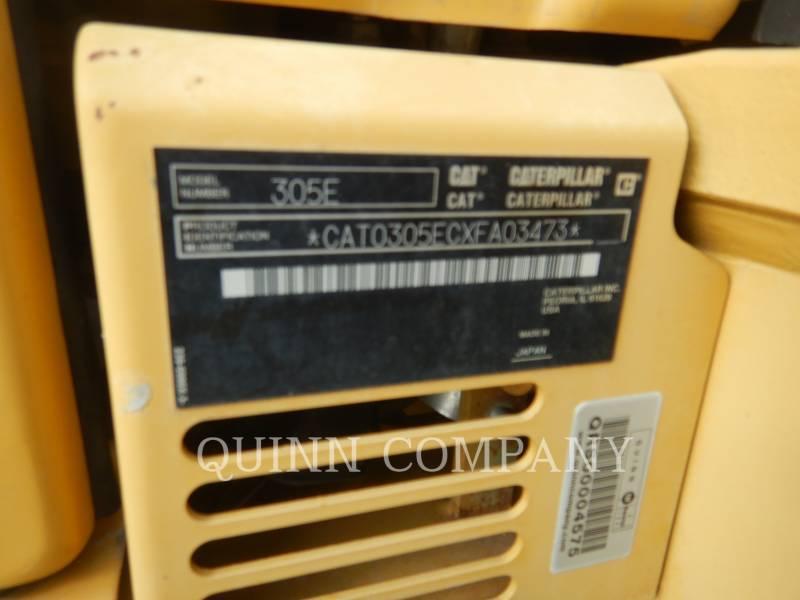 CATERPILLAR TRACK EXCAVATORS 305E CR equipment  photo 11