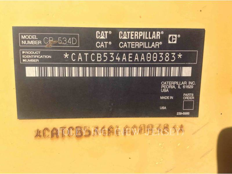 CATERPILLAR VIBRATORY DOUBLE DRUM ASPHALT CB-534DXW equipment  photo 5