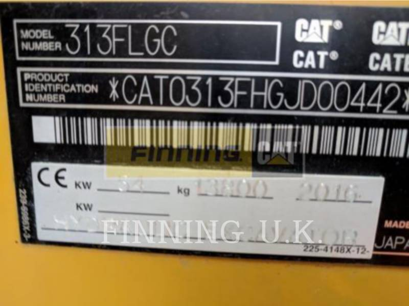 CATERPILLAR PELLES SUR CHAINES 313FLGCDC1 equipment  photo 5