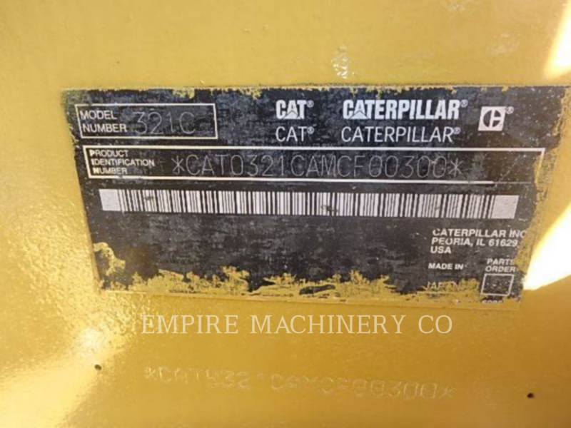 CATERPILLAR KETTEN-HYDRAULIKBAGGER 321C equipment  photo 7