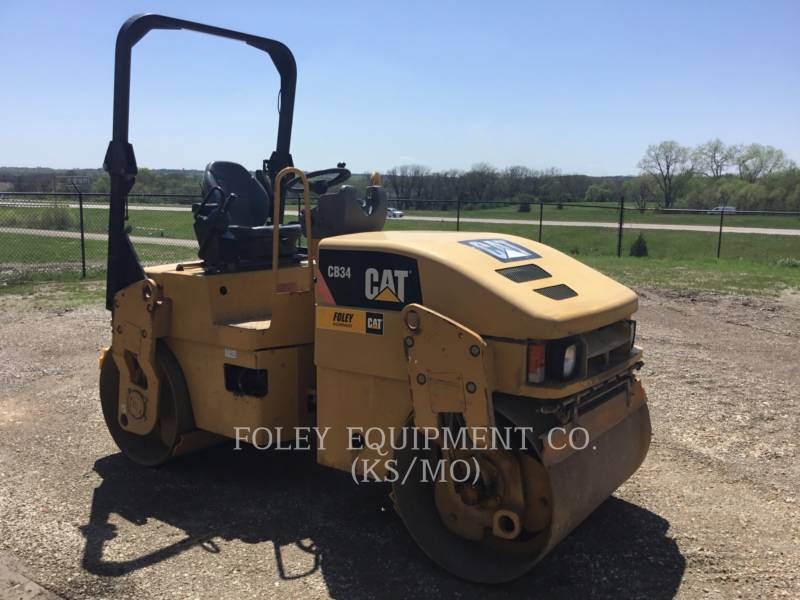 CATERPILLAR TAMBOR DOBLE VIBRATORIO ASFALTO CB34 equipment  photo 2