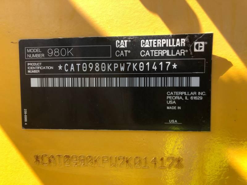 CATERPILLAR RADLADER/INDUSTRIE-RADLADER 980K equipment  photo 23