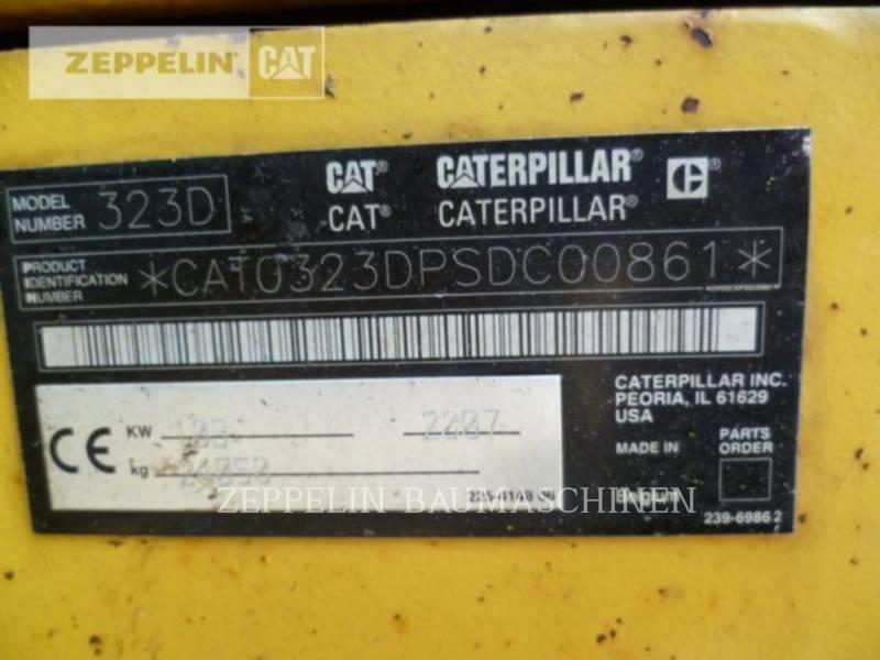 CATERPILLAR KETTEN-HYDRAULIKBAGGER 323DL equipment  photo 14