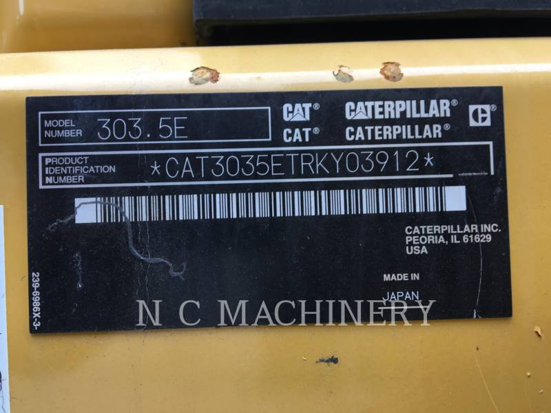 CATERPILLAR EXCAVADORAS DE CADENAS 303.5ECRCN equipment  photo 2
