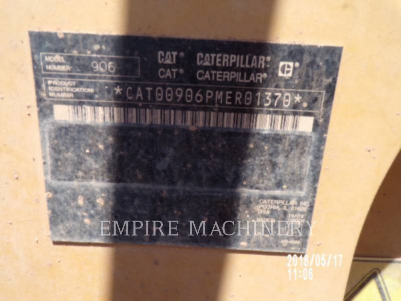 CATERPILLAR WHEEL LOADERS/INTEGRATED TOOLCARRIERS 906 equipment  photo 10