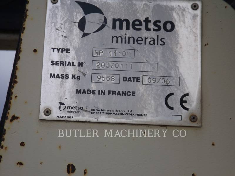 METSO MINERALS EQUIPO VARIADO / OTRO LT1110S equipment  photo 7