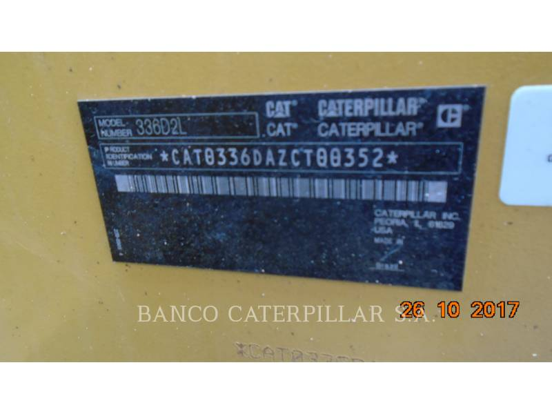CATERPILLAR ESCAVATORI CINGOLATI 336D2L equipment  photo 7