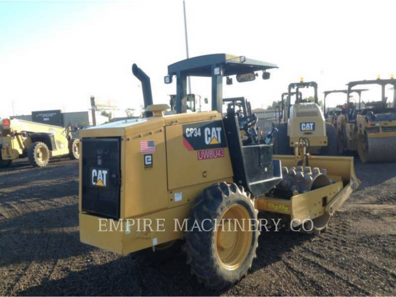 CATERPILLAR VIBRATORY SINGLE DRUM PAD CP34 equipment  photo 2