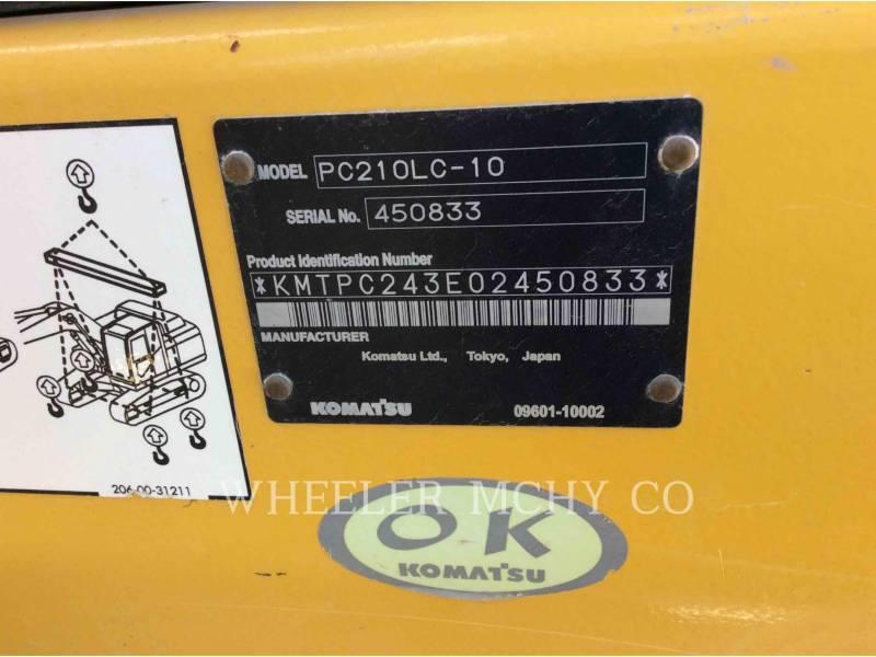 KOMATSU TRACK EXCAVATORS PC210-LC10 equipment  photo 5