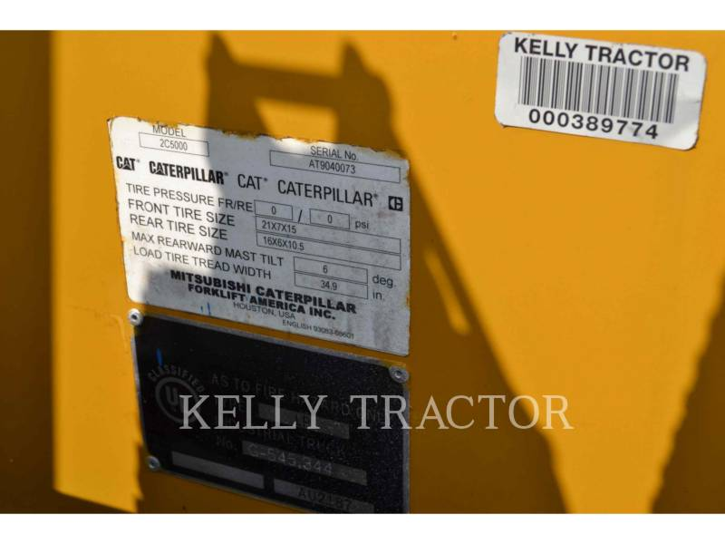 CATERPILLAR LIFT TRUCKS FORKLIFTS C5000 equipment  photo 5