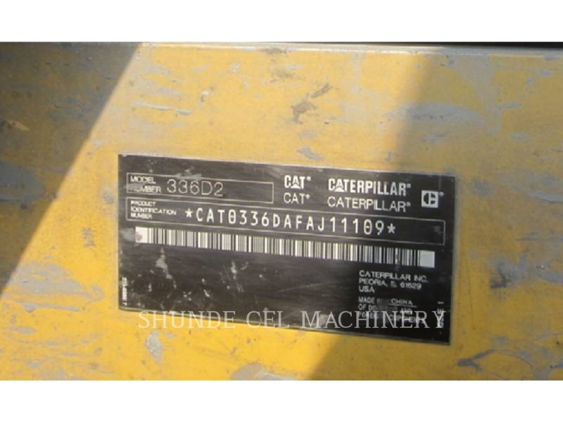 CATERPILLAR EXCAVADORAS DE CADENAS 336D2 equipment  photo 2