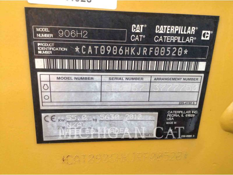 CATERPILLAR WHEEL LOADERS/INTEGRATED TOOLCARRIERS 906H2 C equipment  photo 24