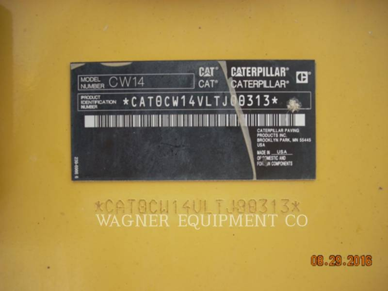 CATERPILLAR COMPACTORS CW14 equipment  photo 5