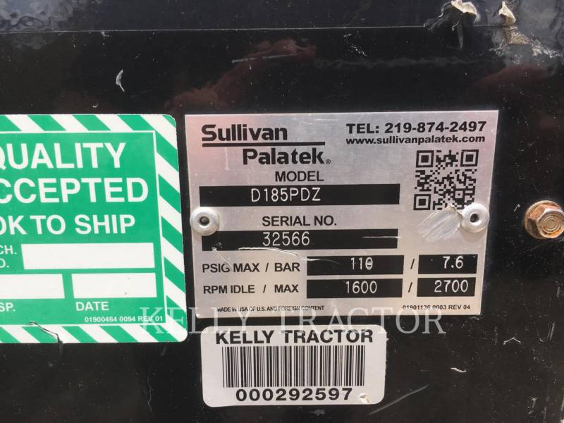 SULLIVAN COMPRESSOR DE AR D185P DZ equipment  photo 8