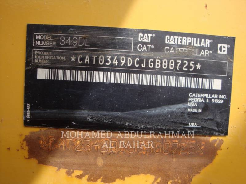 CATERPILLAR TRACK EXCAVATORS 349 D L (ME) equipment  photo 9