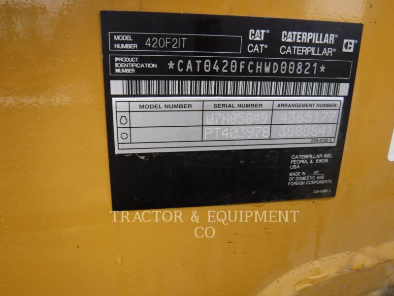CATERPILLAR RETROEXCAVADORAS CARGADORAS 420F24ETCB equipment  photo 2