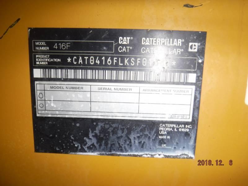 CATERPILLAR BACKHOE LOADERS 416FST equipment  photo 14