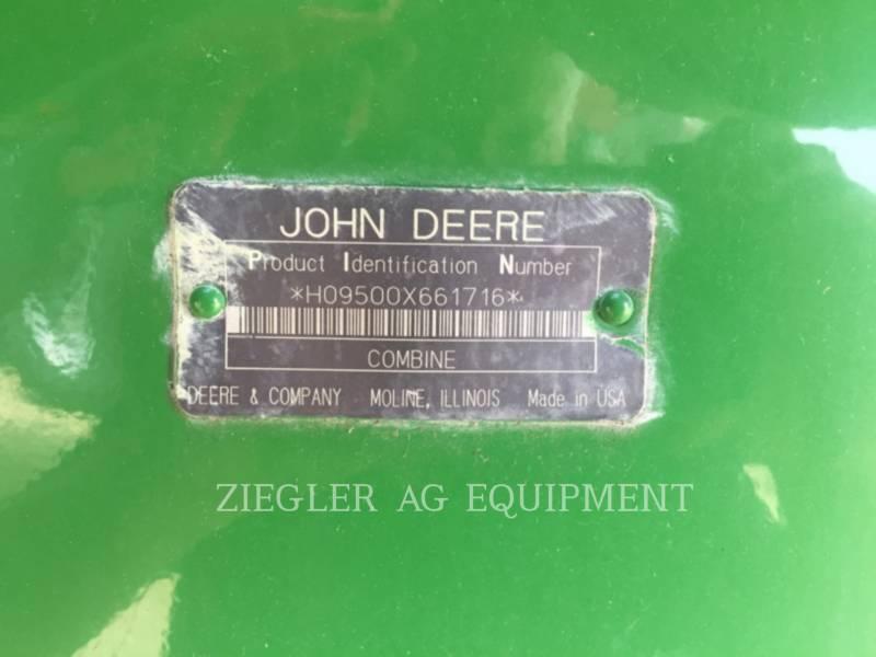 DEERE & CO. COMBINES 9500 equipment  photo 11
