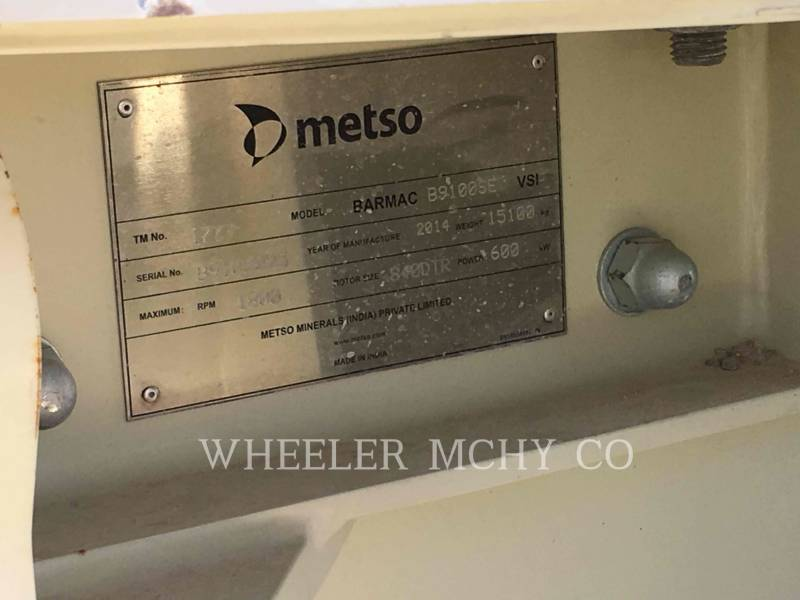 METSO CRUSHERS B9100SE equipment  photo 2