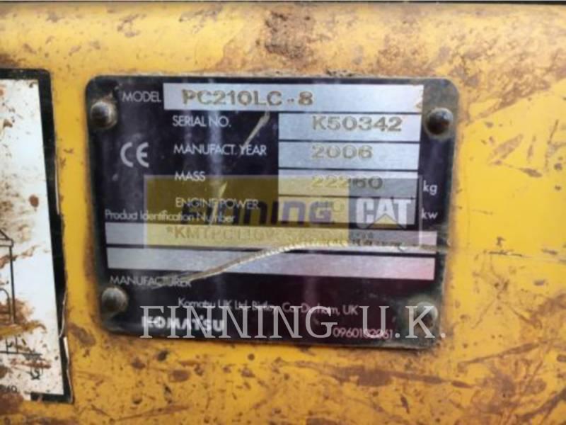 KOMATSU LTD. TRACK EXCAVATORS PC210 equipment  photo 3