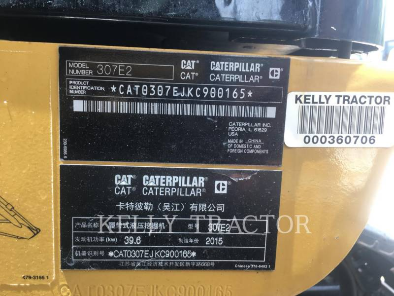 CATERPILLAR EXCAVADORAS DE CADENAS 307E2 equipment  photo 20