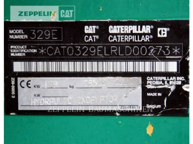 CATERPILLAR KETTEN-HYDRAULIKBAGGER 329ELN equipment  photo 6