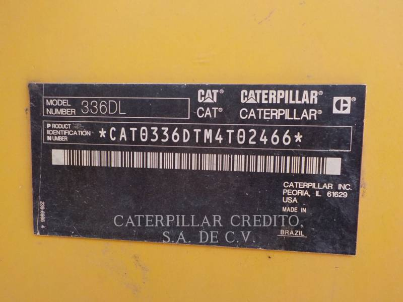 CATERPILLAR EXCAVADORAS DE CADENAS 336DL equipment  photo 21