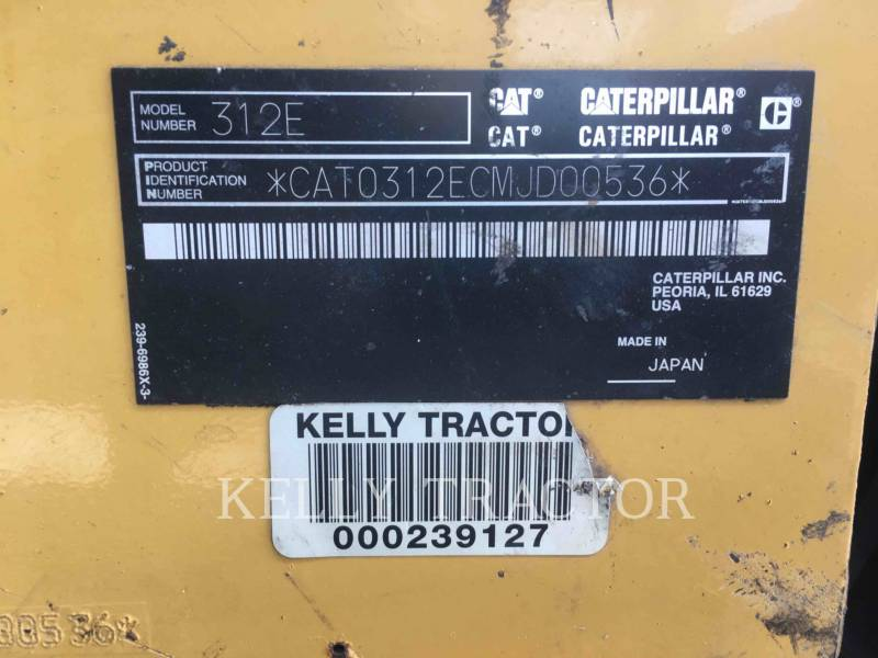 CATERPILLAR TRACK EXCAVATORS 312EL equipment  photo 18