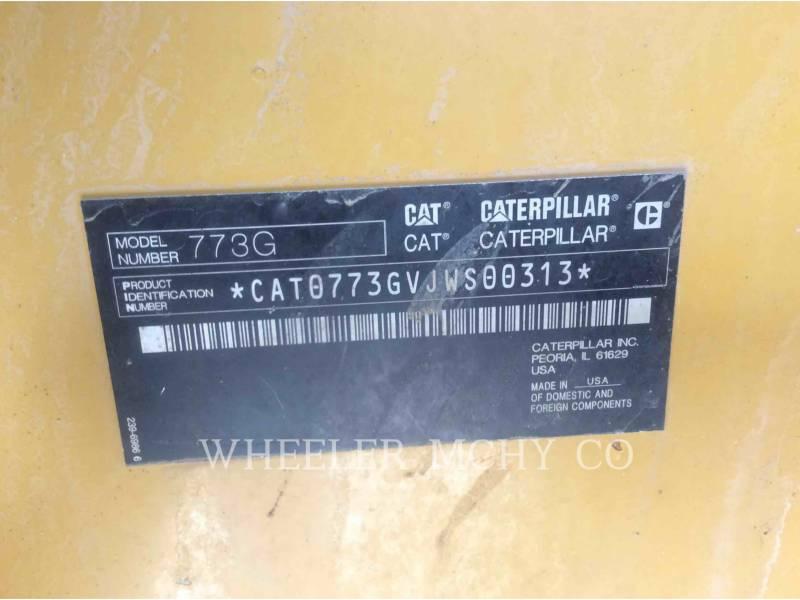 CATERPILLAR OFF HIGHWAY TRUCKS 773G equipment  photo 5