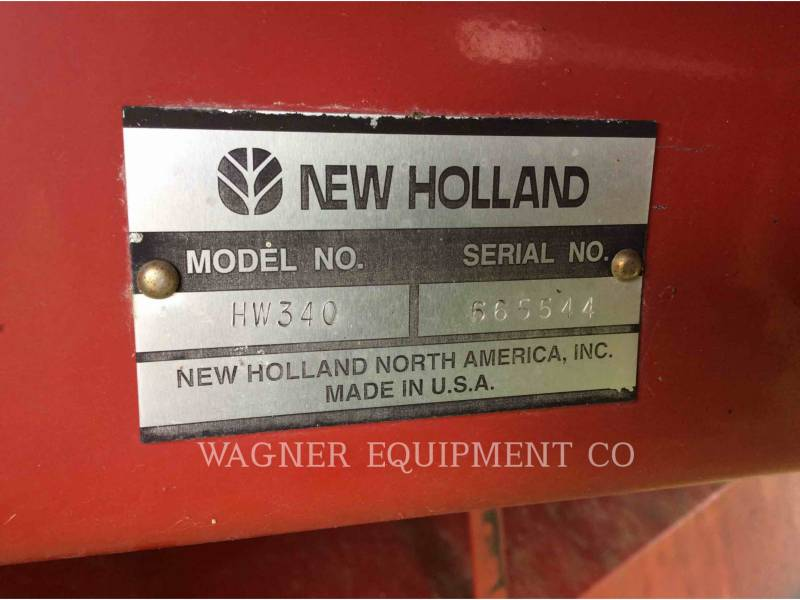 NEW HOLLAND LTD. MATERIELS AGRICOLES POUR LE FOIN HW340 equipment  photo 5