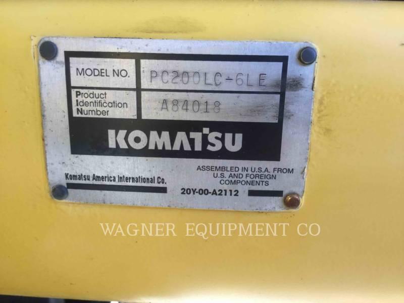 KOMATSU PELLES SUR CHAINES PC200LC equipment  photo 10
