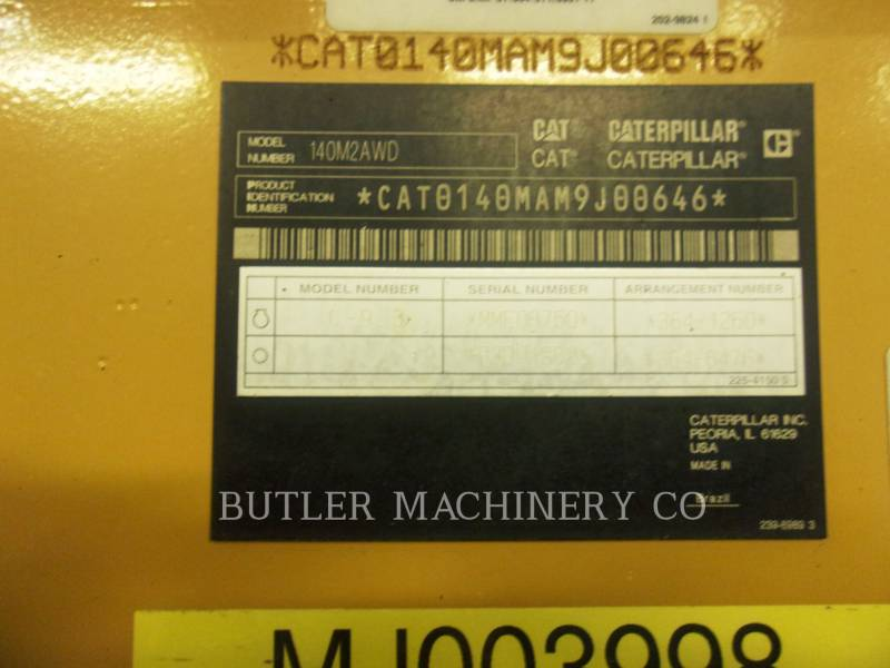 Caterpillar AUTOGREDERE 140M2AWD equipment  photo 6