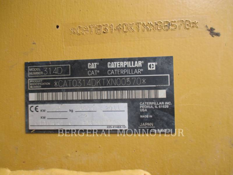 CATERPILLAR ESCAVATORI CINGOLATI 314DLCR equipment  photo 12