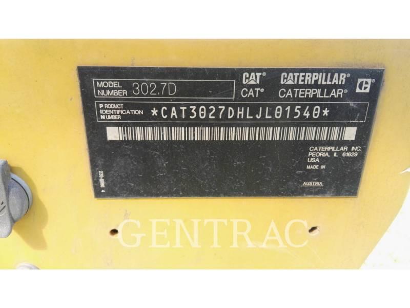 CATERPILLAR KETTEN-HYDRAULIKBAGGER 302.7DCR equipment  photo 20