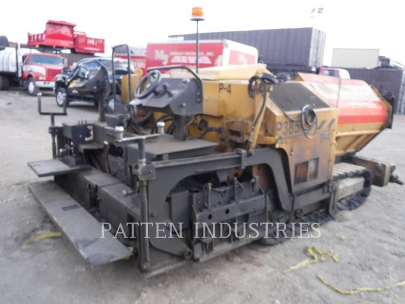 WEILER ASPHALT PAVERS P385A equipment  photo 3