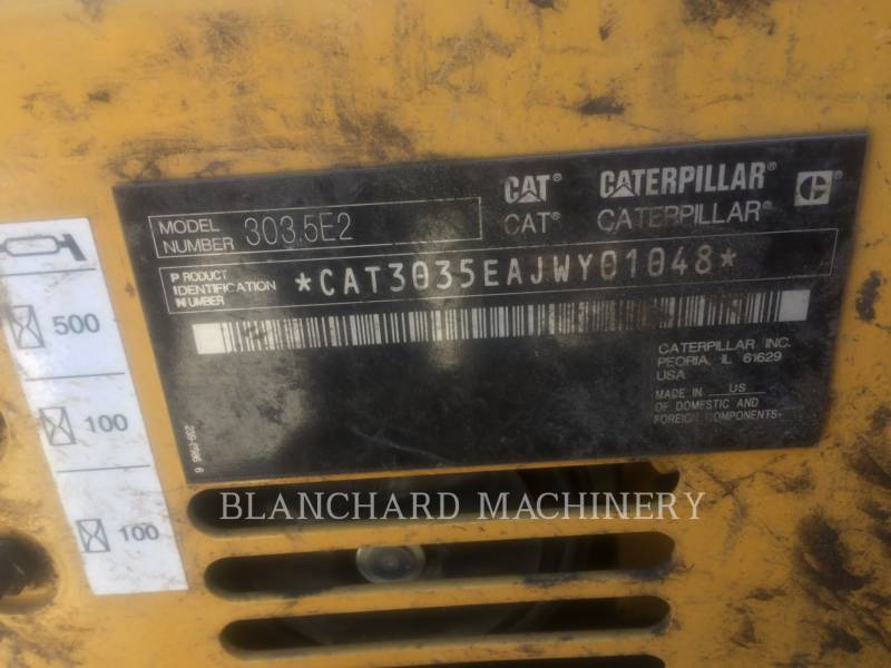 CATERPILLAR EXCAVADORAS DE CADENAS 303.5E2CR equipment  photo 6