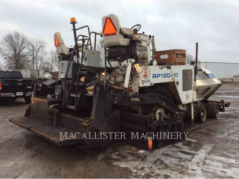 ROADTEC ASPHALT PAVERS RP180 equipment  photo 4