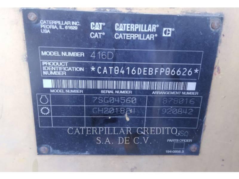 CATERPILLAR BACKHOE LOADERS 416D equipment  photo 2