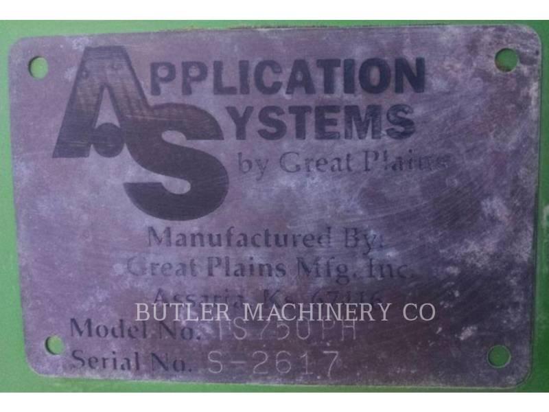 GREAT PLAINS SPRAYER TS750PH equipment  photo 7