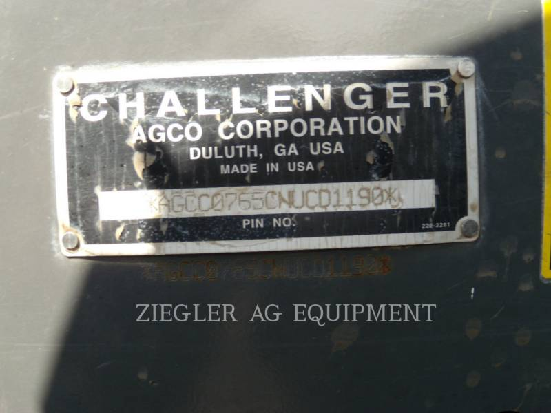 AGCO-CHALLENGER AG TRACTORS MT765C equipment  photo 2