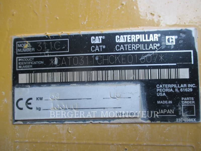 CATERPILLAR KETTEN-HYDRAULIKBAGGER 311C equipment  photo 5
